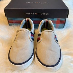 Tommy Hilfiger Canvas Slip-On Tan Shoes